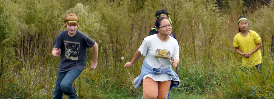 Learning Outside's Trekkers program is an after-school nature club for at-risk middle school youth. Each week's session includes a nature-based group game that allows everyone to move, to interact, to collaborate and to have fun.